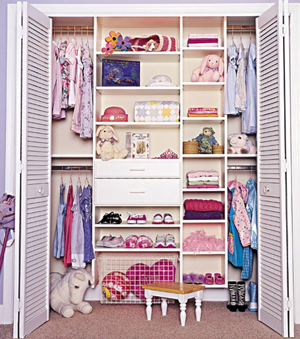 Purple closet design ideas for kids Closet layout ideas
