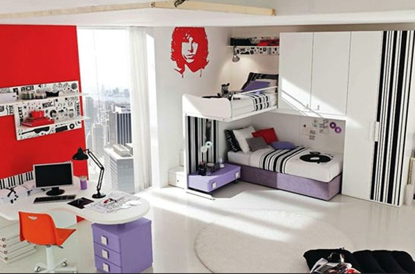 red and white music bedroom themed ideas 20 Inspiring Music Themed Bedroom Ideas