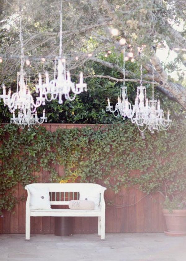 Romantic outdoor chandeliers for wedding decor mozeypictures Gallery