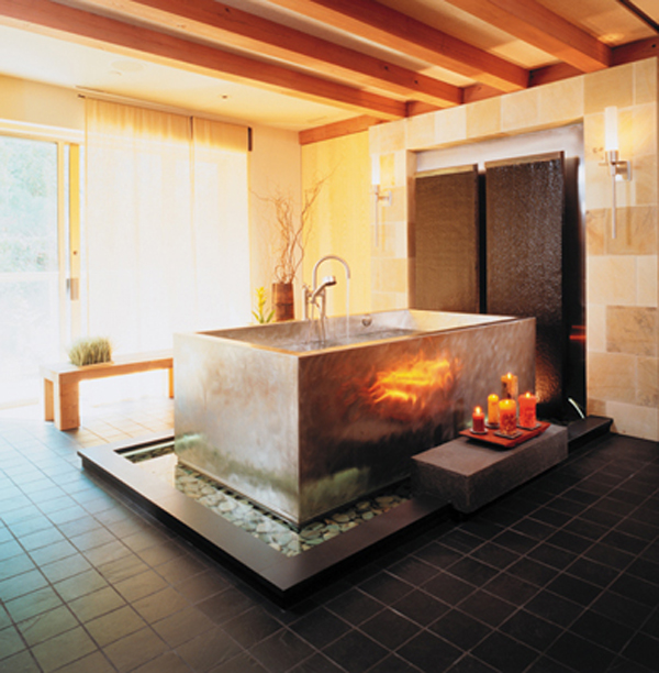 Modern Relaxing Japanese Soaking Bathtubs | homemydesign.
