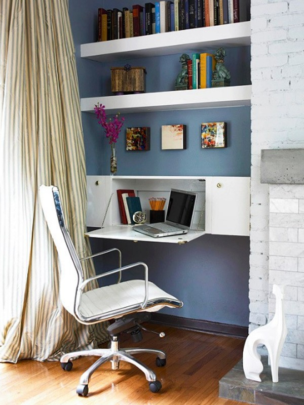 double and small home office desk ideas