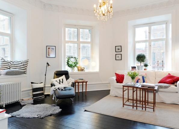 Small and Minimalist Living room Design in Sweden | Home Design ...