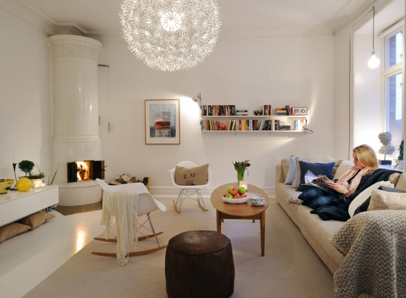 Small And Minima Living Room Design In Sweden Home