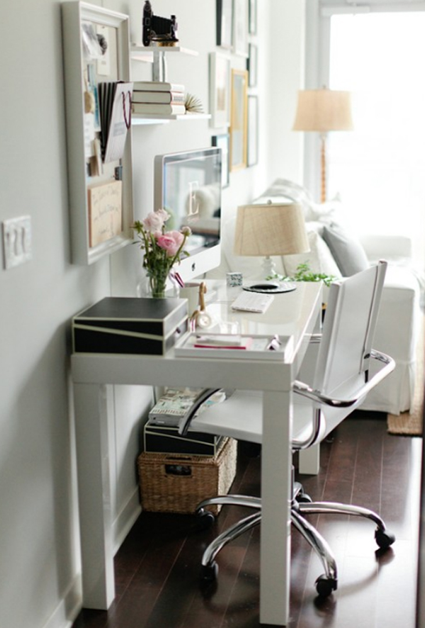 home office small space ideas. Source : Pinterest Home Office Small Space Ideas