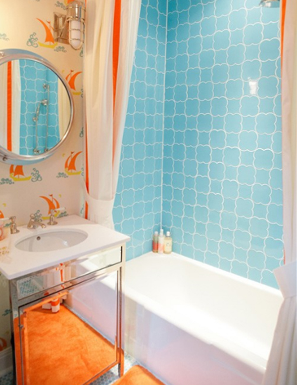 Fine Bathroom Designs Orange Decorating Ideas Intended Design