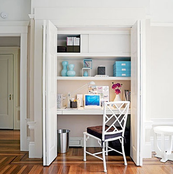 Small Home Design Ideas Com: 28 White Small Home Office Ideas