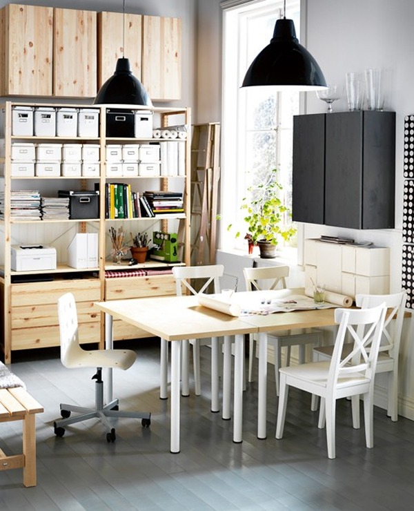 Small Home Office Room: Small-and-white-home-office-room-ideas