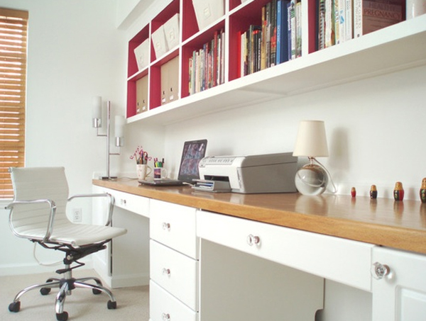 Small home office decor ideas - Modern desks small spaces decoration ...