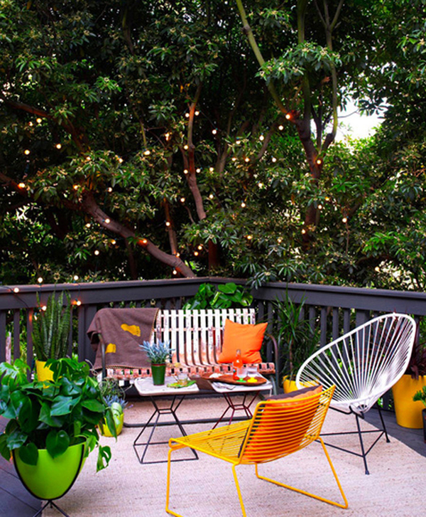 Outdoor small house with garden ideas Small backyard patio furniture