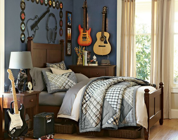 Boys bedroom ideas for music themed for Themed bedrooms for boys