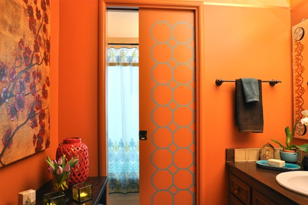 Small Orange Bathroom Decor Ideas Home Design And Interior