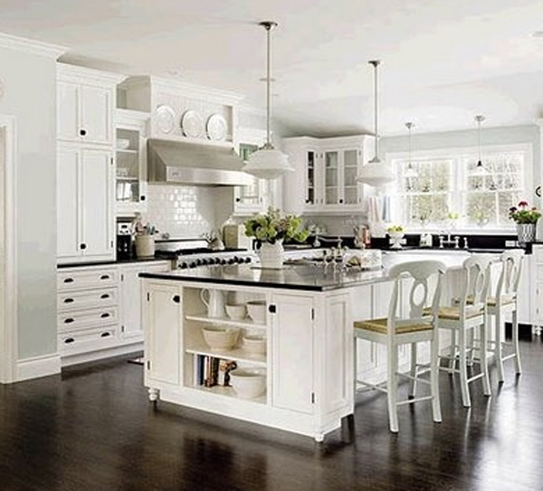 Minimalist White Kitchen Cabinet