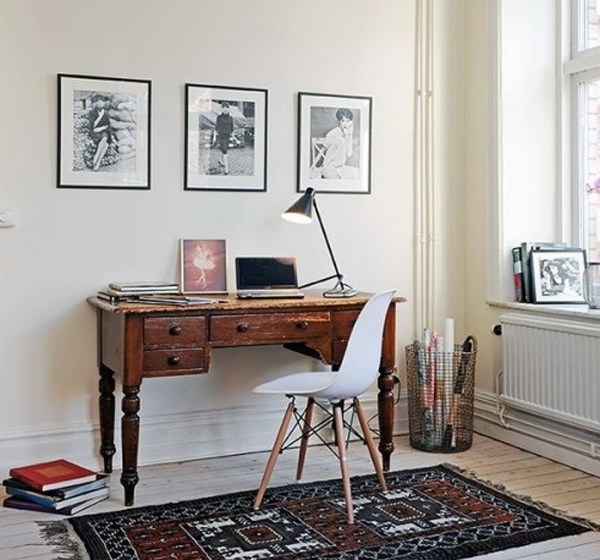 White Small Home Office Room