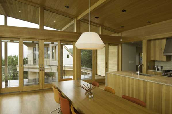 Wooden Beach House With Kitchen Design