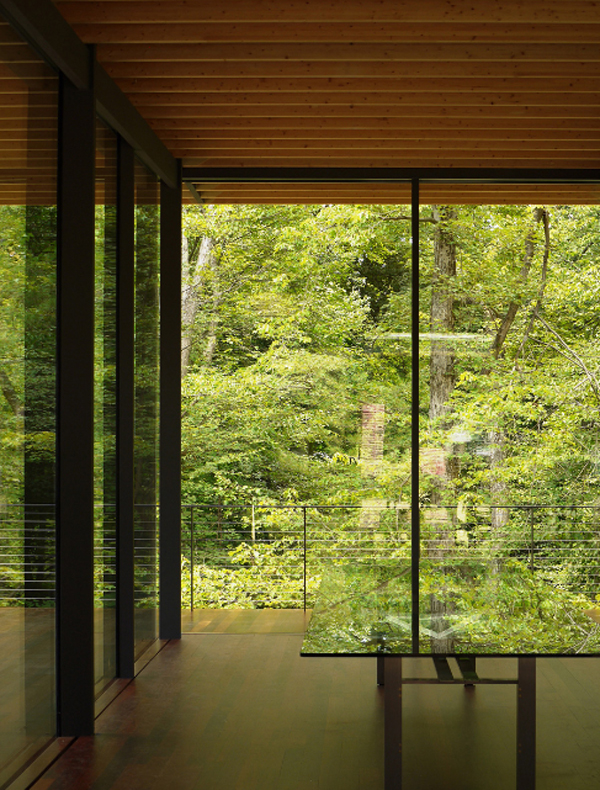 Gallery of Wooden House Design with Beautiful Glass Architecture