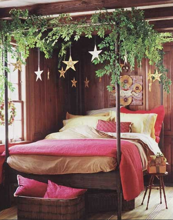 26 inspiring christmas bedroom decorating ideas for Decorating my bedroom ideas