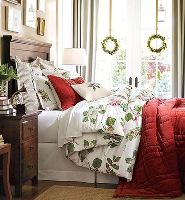 Inspiring christmas bedroom decorating ideas for Room decor for christmas