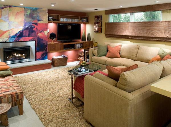 After finished basement remodeling ideas for Home basement design ideas