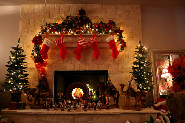 Beautiful christmas tree decorations for living room House beautiful christmas trees