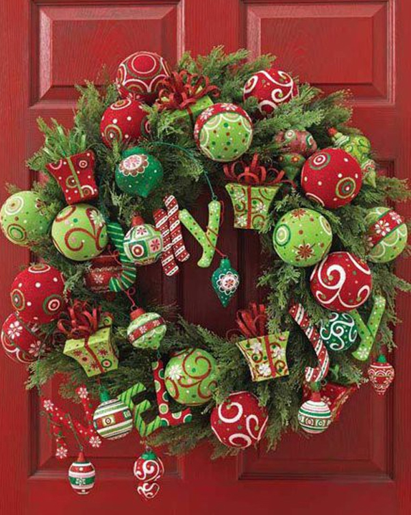 Cool christmas door decorating ideas for Decoration xmas ideas