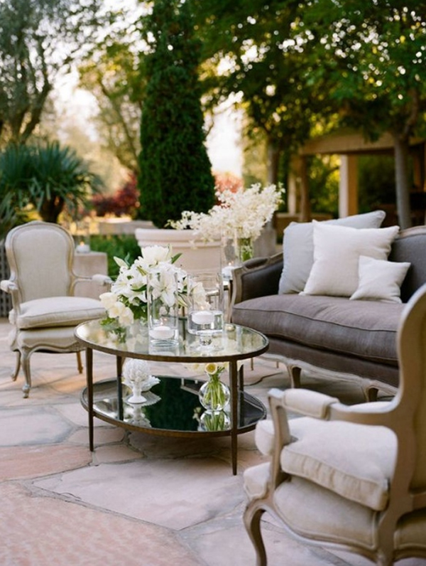 Beautiful outdoor furniture garden ideas Outside rooms garden design