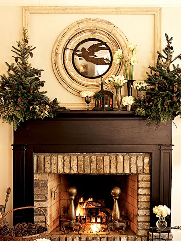 15 Beautiful Christmas Decoration with Fireplace Ornaments ...