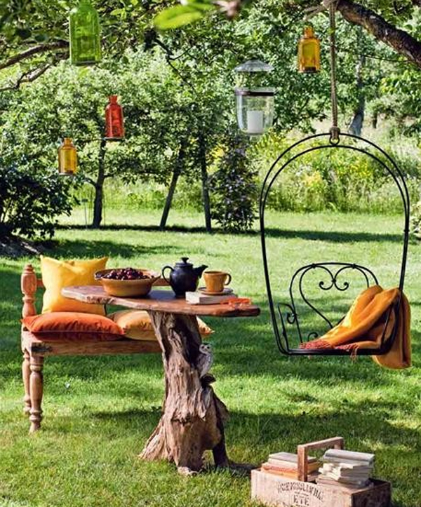 Beautiful outdoor furniture garden ideas for Home garden ideas