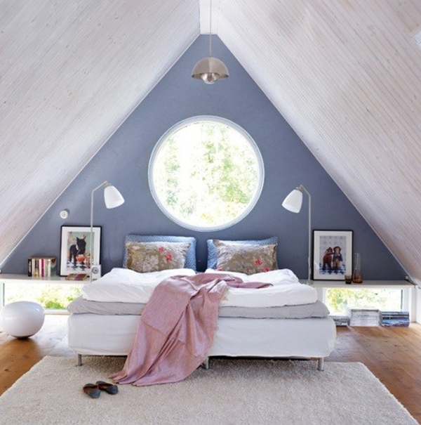 Bedroom attic design ideas home decoration live for Room roof design images