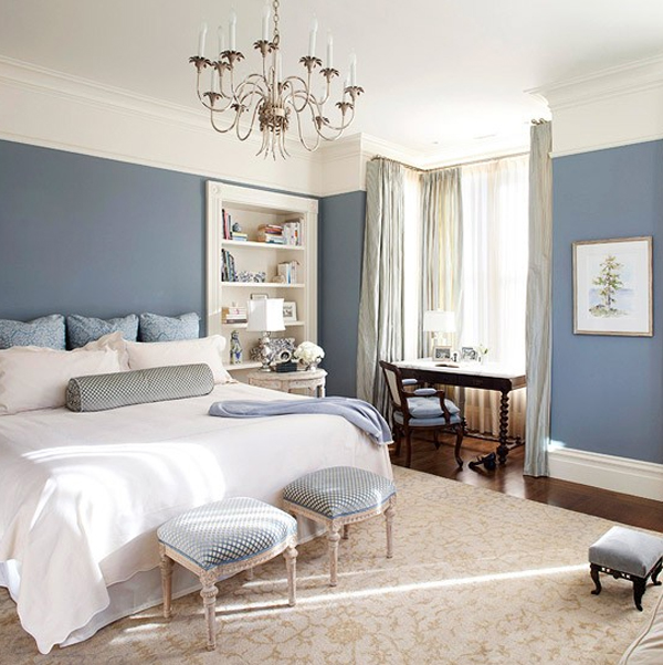 chic and charming blue pastel bedroom design 20 Chic and Charming Pastel Bedroom Ideas