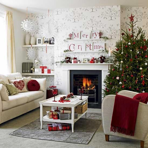 Living Room Ornaments 15 beautiful christmas decoration with fireplace ornaments | home