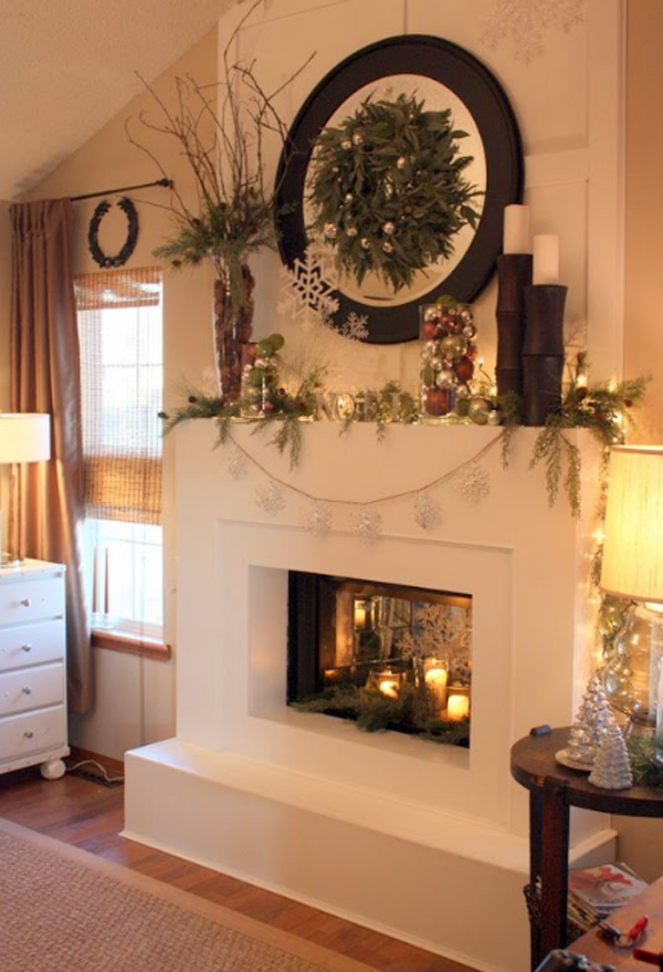 Christmas ornaments ideas with fireplaces design for Art for decoration and ornamentation