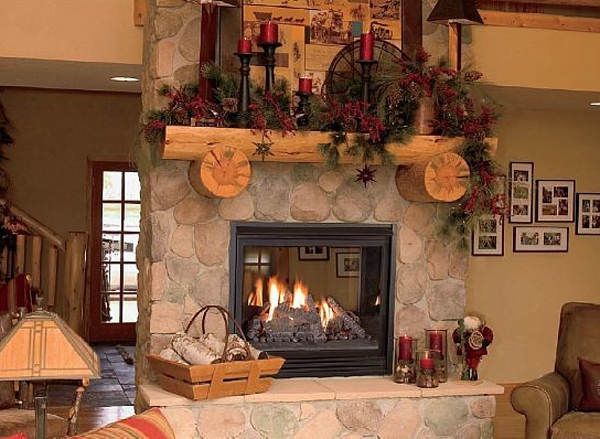 Decorating Ideas > 15 Beautiful Christmas Decoration With Fireplace Ornaments  ~ 201843_Open Fireplace Decorating Ideas