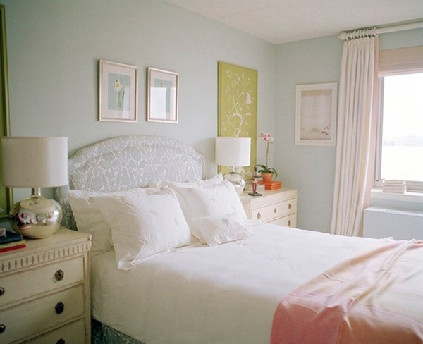 colorful charming pastel bedroom