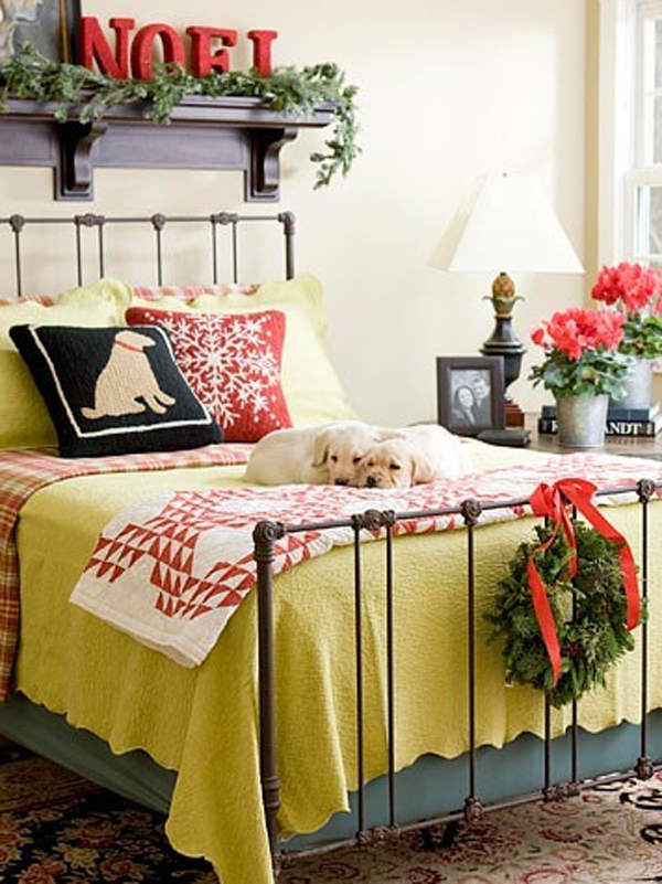 cool and modern christmas bedrooms design