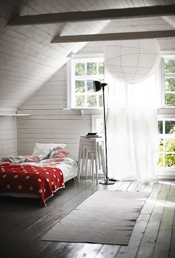 Cool attic bedroom decoration for Cool attic room ideas