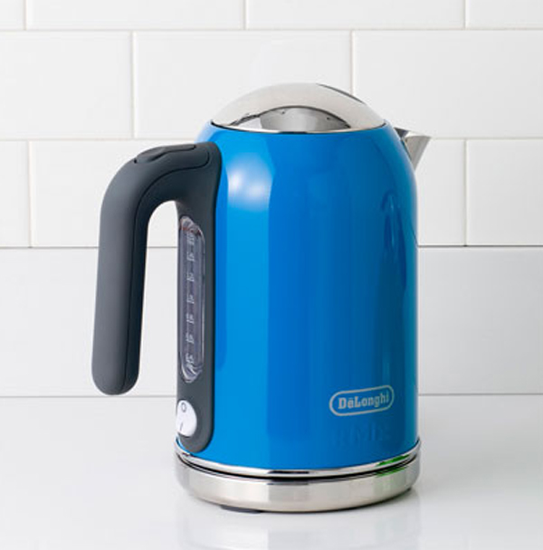 cool blue kettle kitchen appliance 15 Cool and Colorful Small Kitchen Appliances