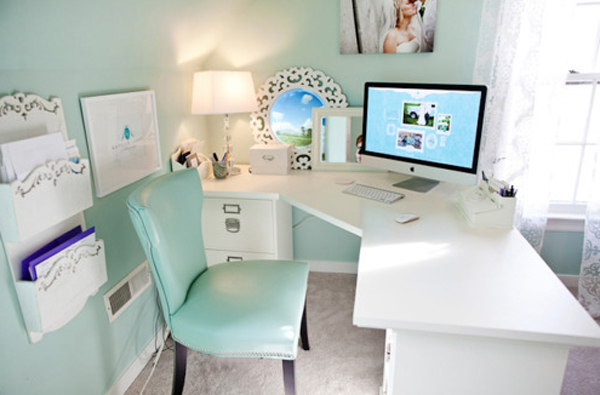 Outstanding Cool Blue Office Room Ideas Largest Home Design Picture Inspirations Pitcheantrous