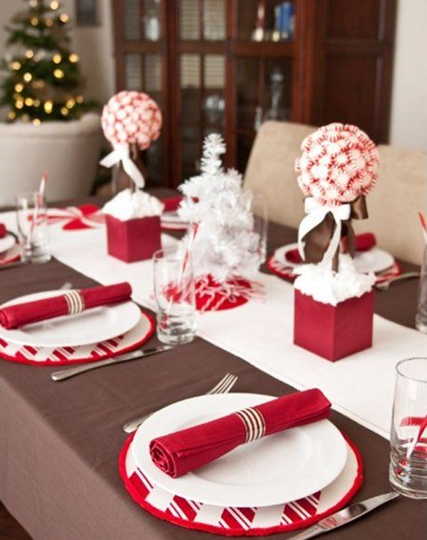 Pink christmas table setting ideas Christmas place setting ideas