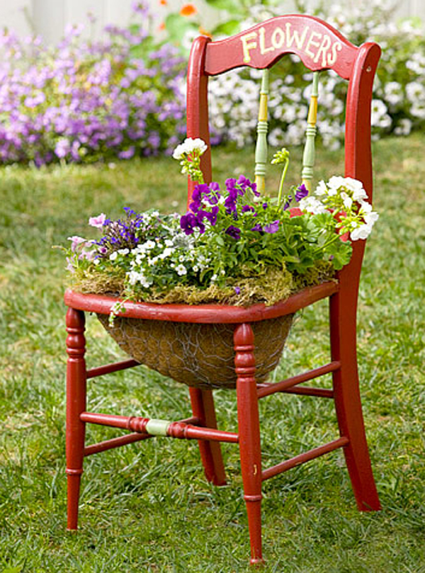 Creative Chair Planters For Home Garden | Home Design And ...