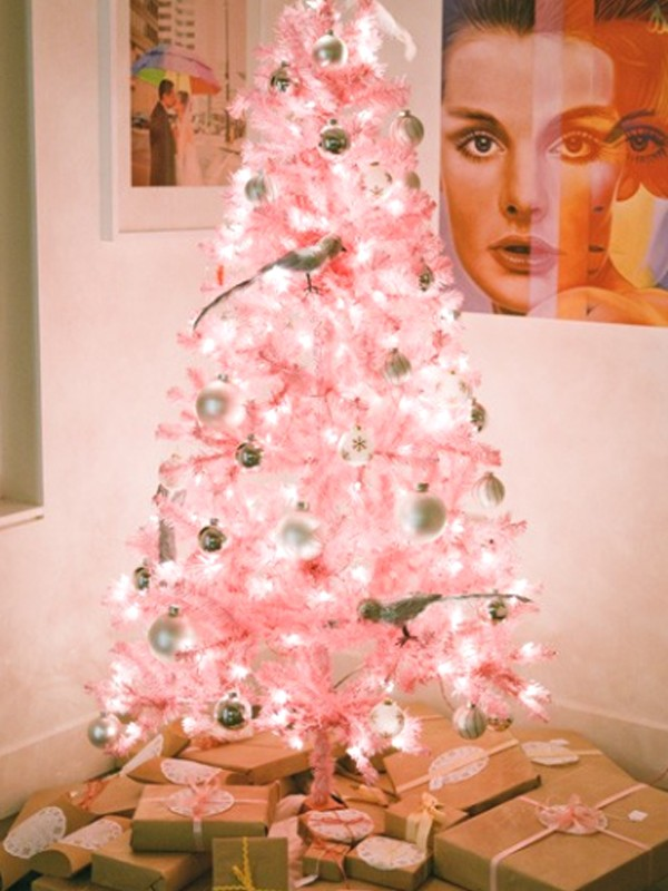 cute-and-beautiful-pink-christmas-tree-decorations-design