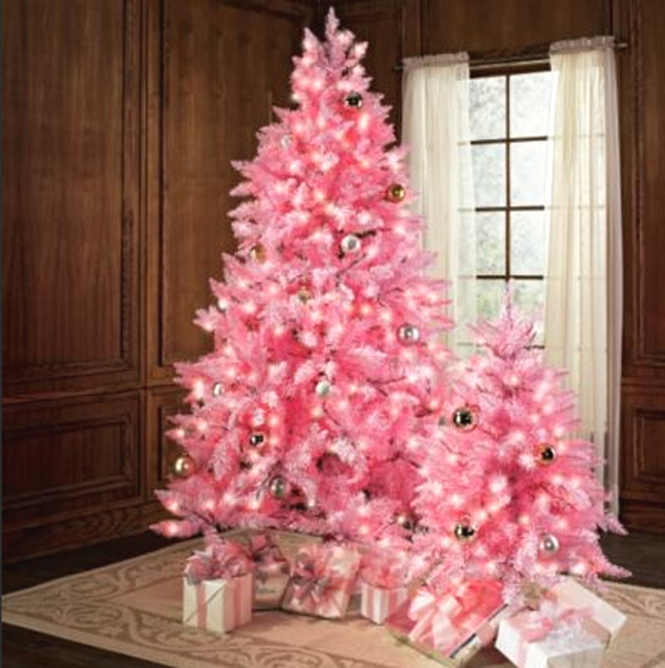 Cute And Beautiful Pink Christmas Tree Decorations Design