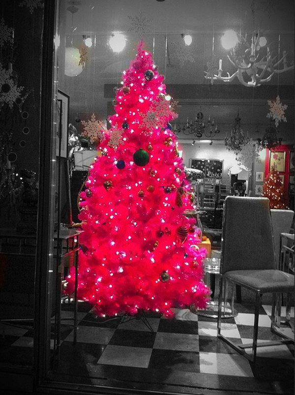 cute and beautiful pink christmas tree for room ideas