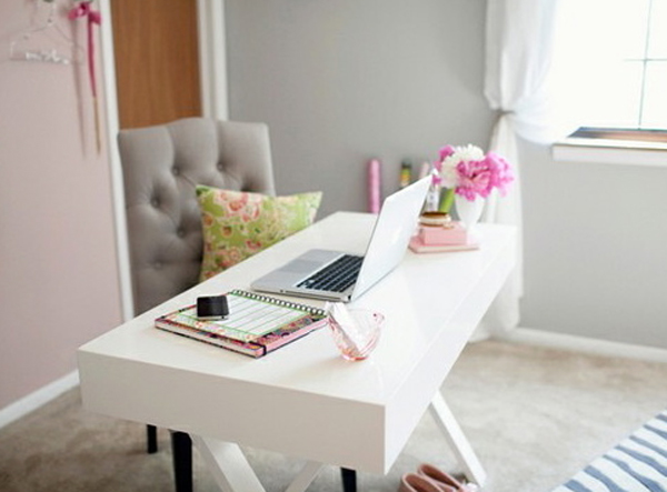 Cool and modern home office with storage ideas for Cute house decor