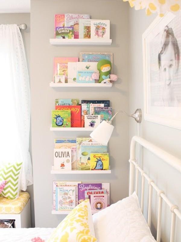 Cute minimalist kids bookshelves ideas for Kids room book shelf