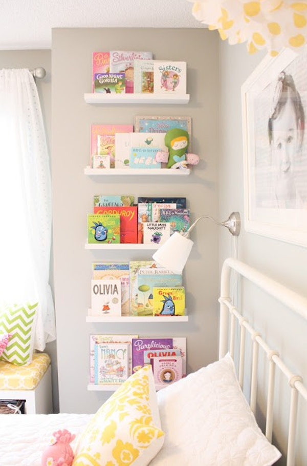 Cute bookshelves design for kids room for Bookcases for kids room