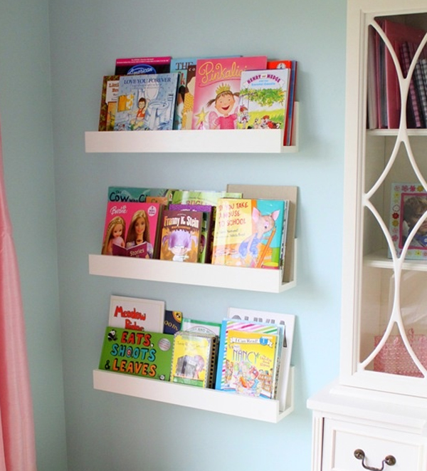 cute minimalist kids bookshelves ideas