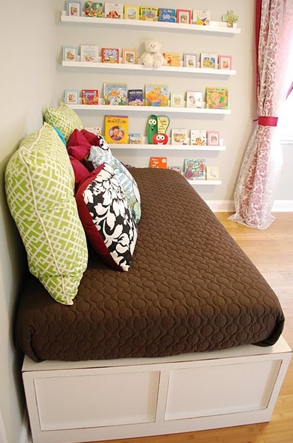 Cute Minimalist Kid Bookshelves Storage System