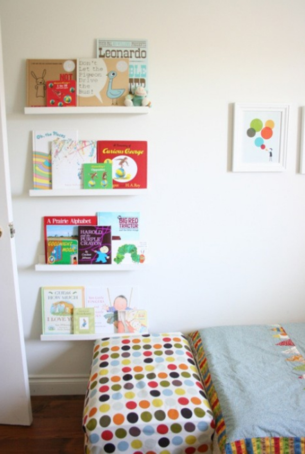 10 cute minimalist bookshelves for kids rooms home design and interior. Black Bedroom Furniture Sets. Home Design Ideas