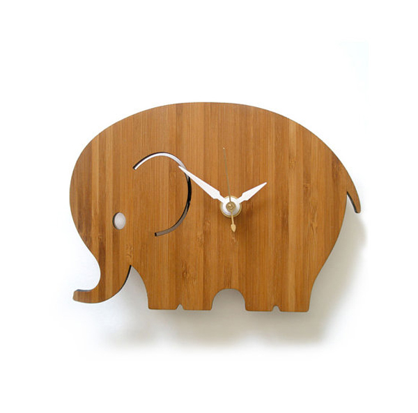 elephant wall clock design Wooden Clock Ideas with Animal Themed