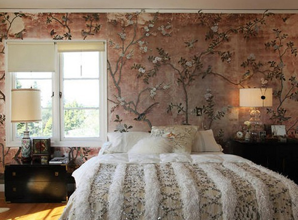 floral-bedroom-ideas-with-wallpaper-theme